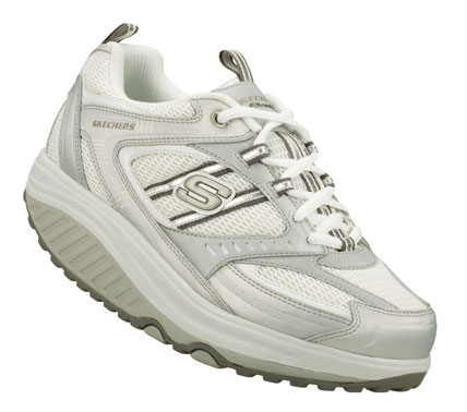 SKETCHERS Womens Shape Ups Fit Shape-ups Originals Sneakers - Silver/White - 8.5