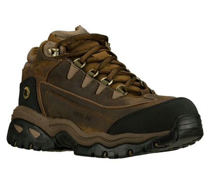 SKETCHERS Mens Work Energy Blue Ridge Ankle Boots - Brown/Brown - 9