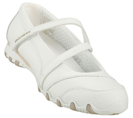 SKETCHERS Womens Work Bikers Hobbie Nurse And Medical Shoes - White - 7.5