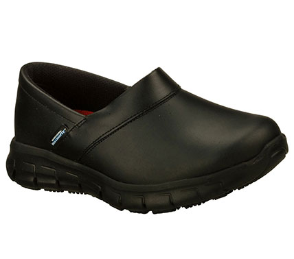 work relaxed fit sure track non slip sole shoes skechers